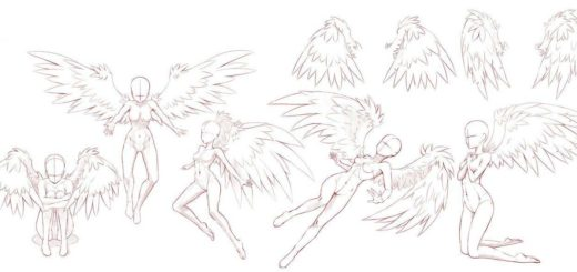 Angel drawing reference