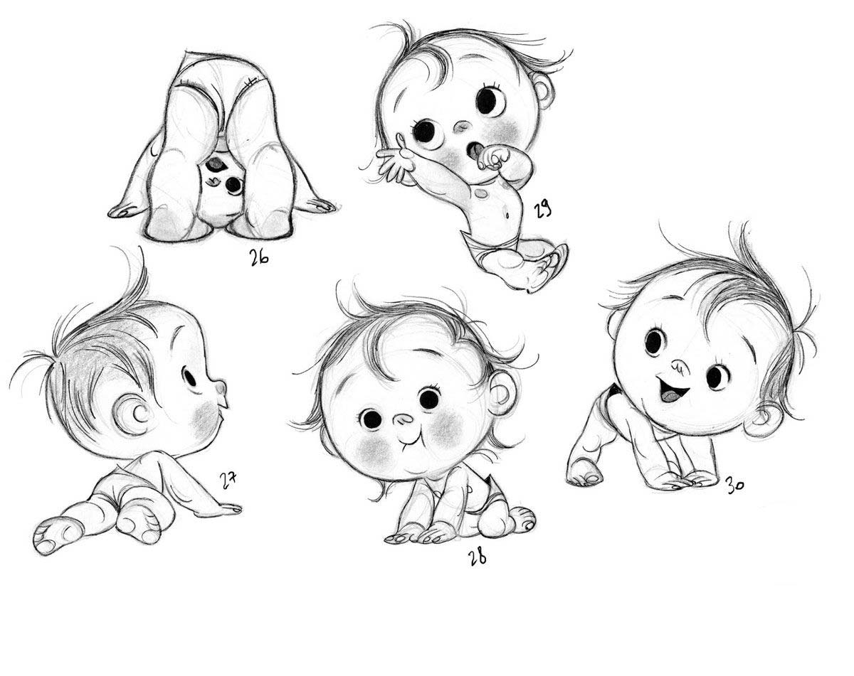 Baby Drawing Reference