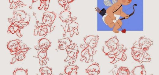 Cupid Drawing References