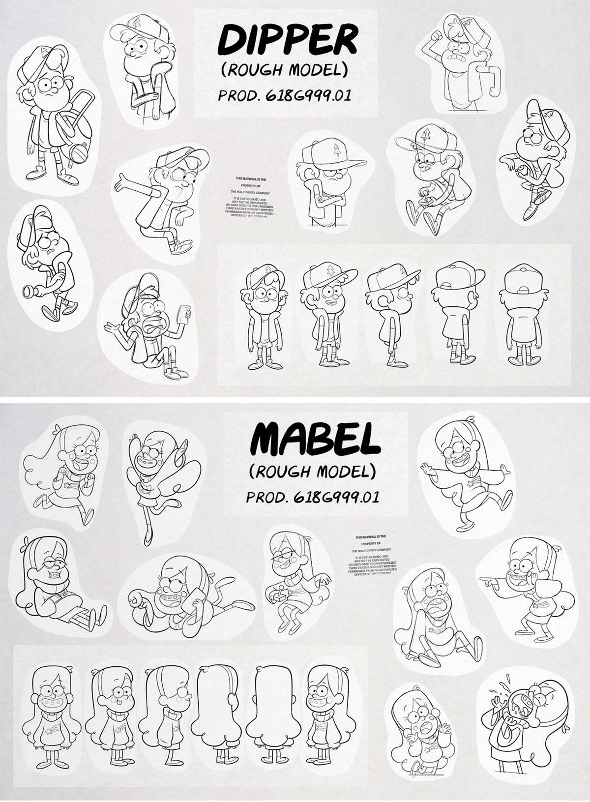 Dipper and Mabel Drawing Reference