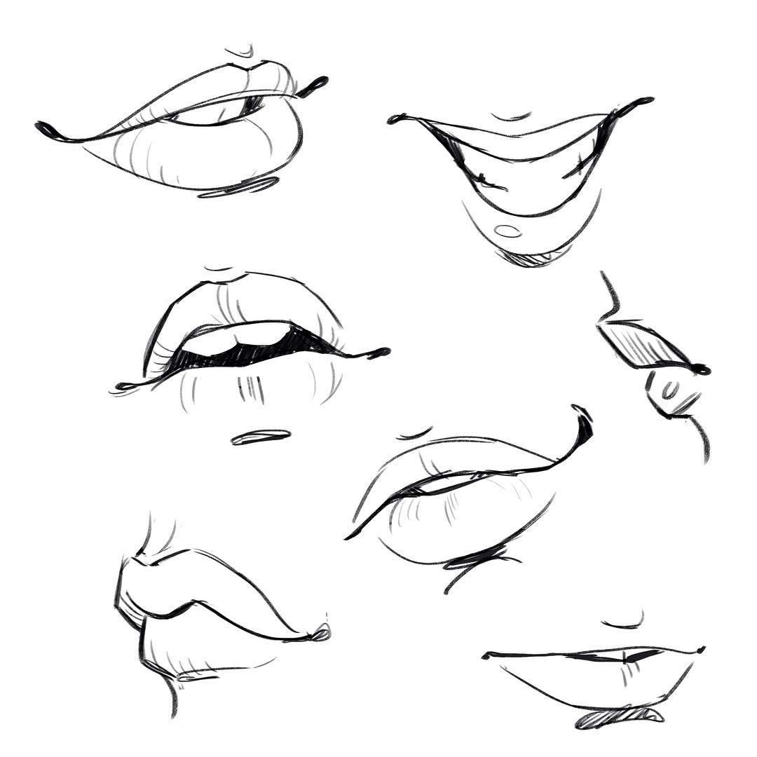 Mouth drawing reference