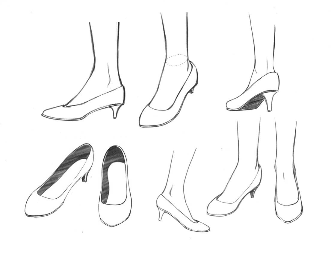 Shoes drawing reference