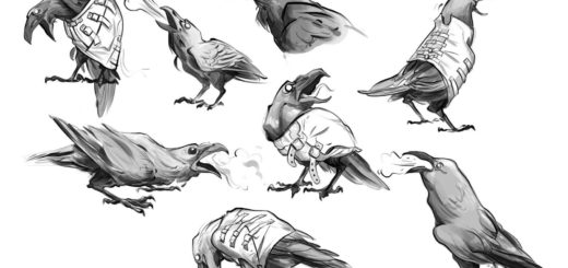 Raven drawing reference