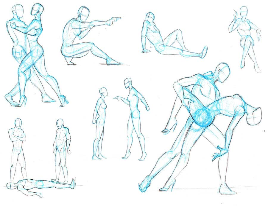 Couple Dancing drawing references