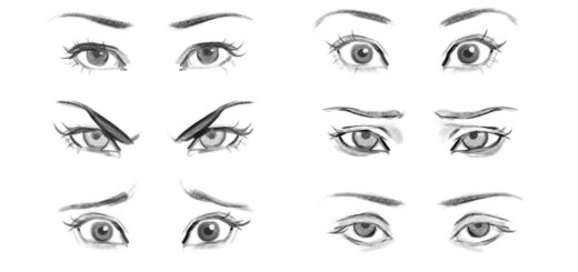 Eye Expressions drawing reference