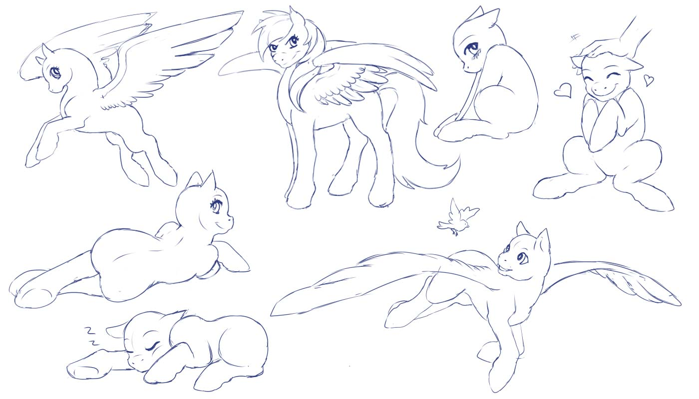 Little Pony drawing reference