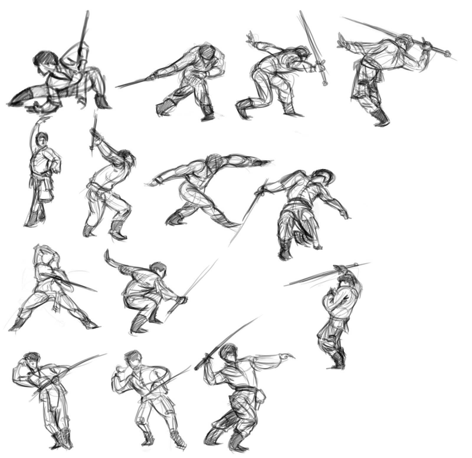 It's just an image of Impeccable Sword Poses Drawing
