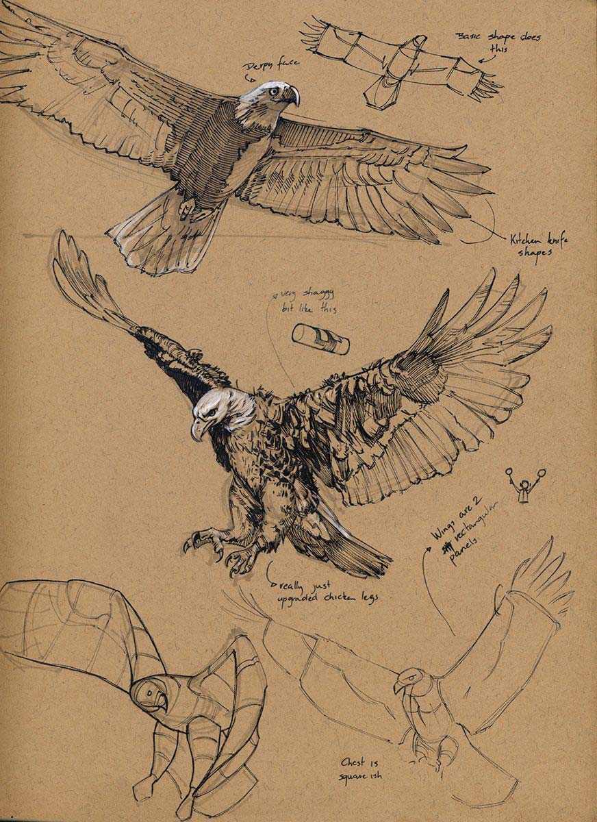 Eagle drawing reference