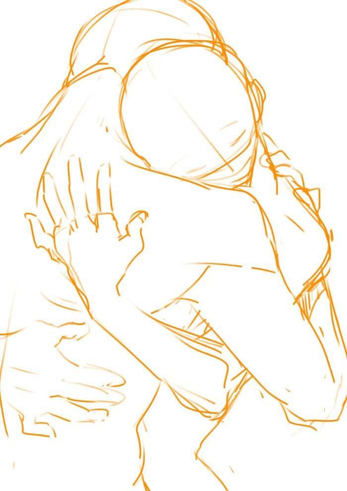 Hug Drawing Reference