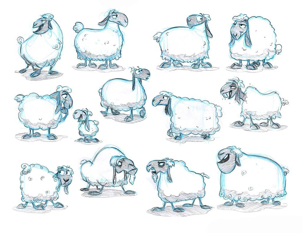 Sheep drawing reference