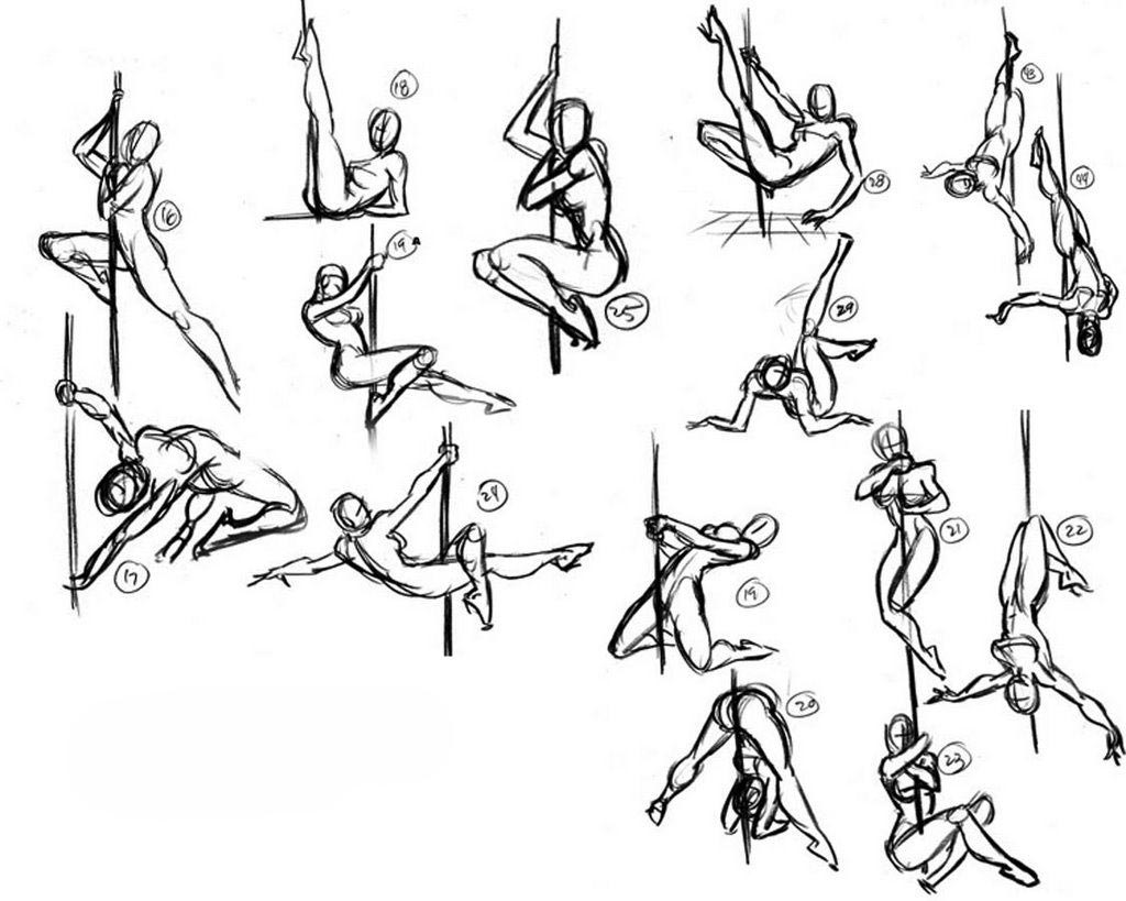 Pole dance drawing reference
