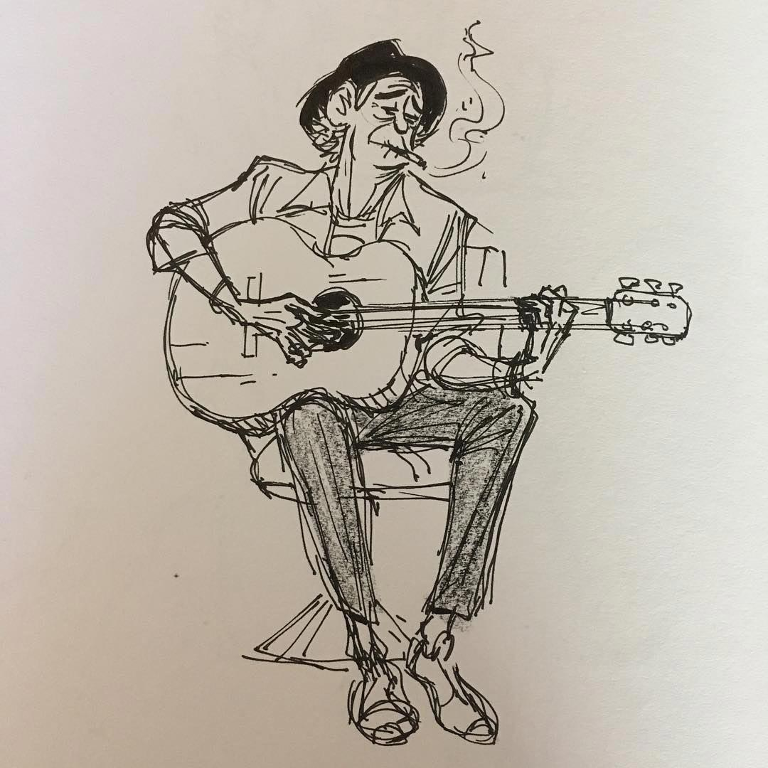 Guitarist Drawing Reference And Sketches For Artists