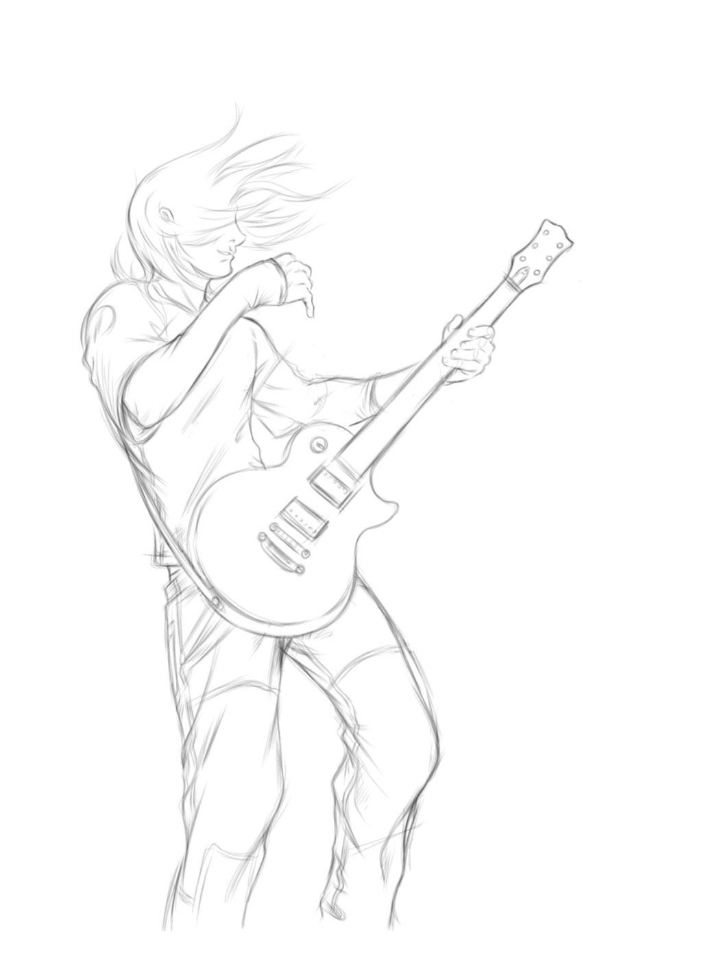 Guitarist drawing reference