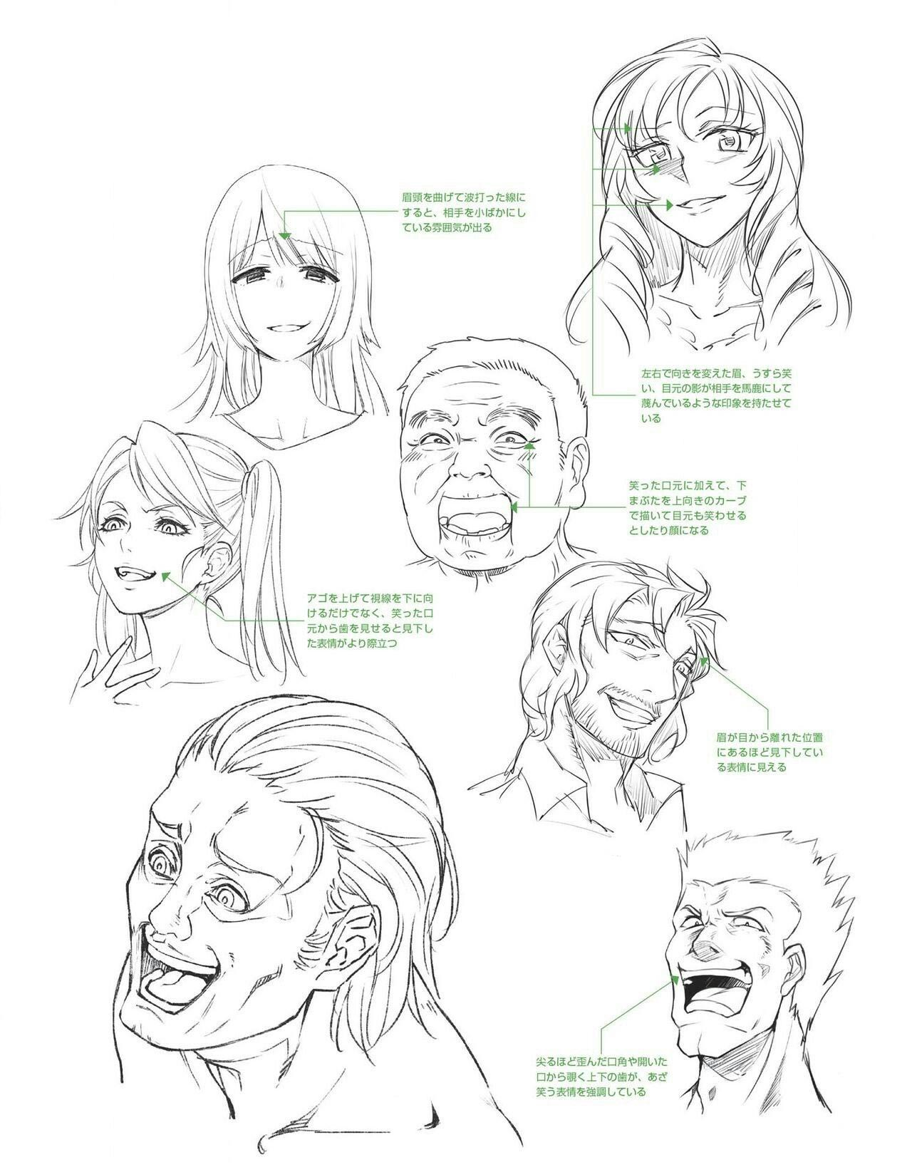 Laughing and Smiling drawing reference