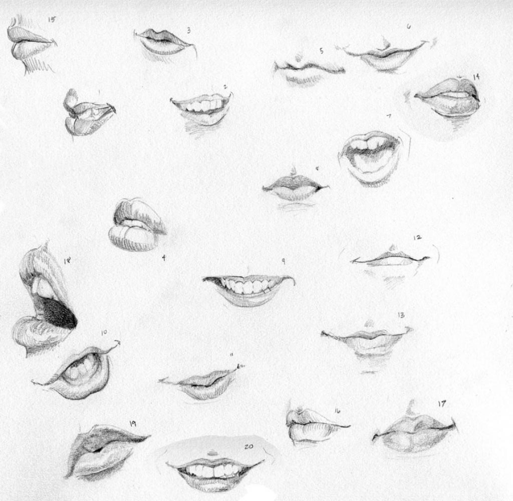 Lips drawing reference