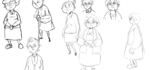 Old lady drawing reference