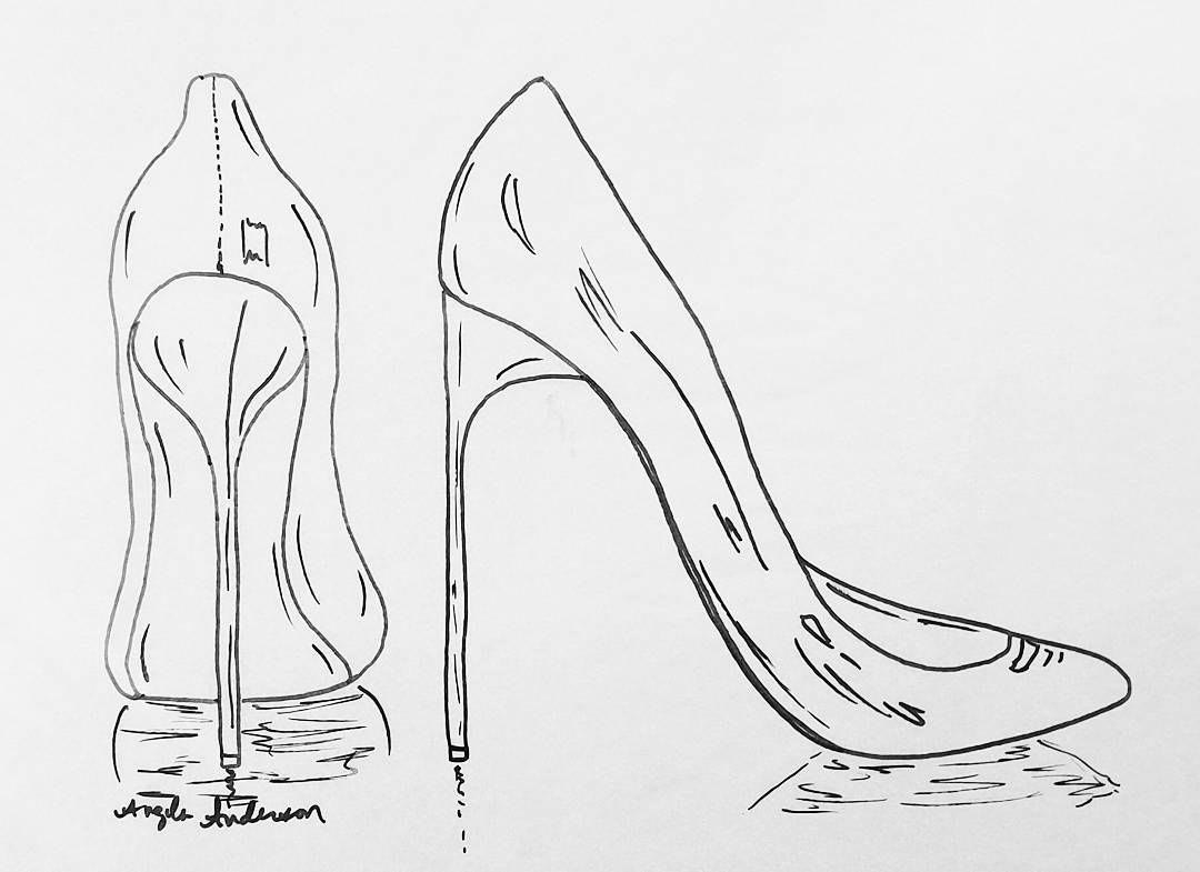 Stilettos drawing reference