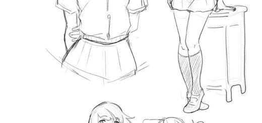 Anime Schoolgirl drawing reference
