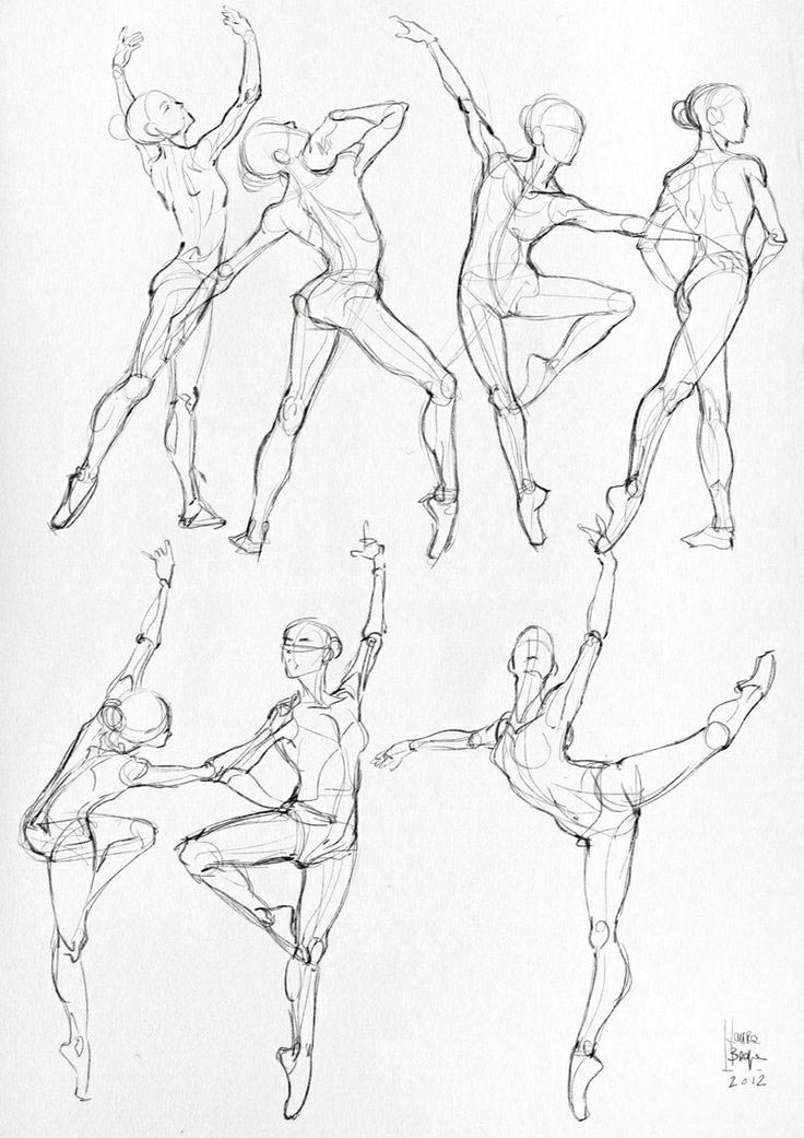 Ballet poses drawing reference