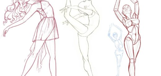 Poses Drawing References and Sketches for Artists