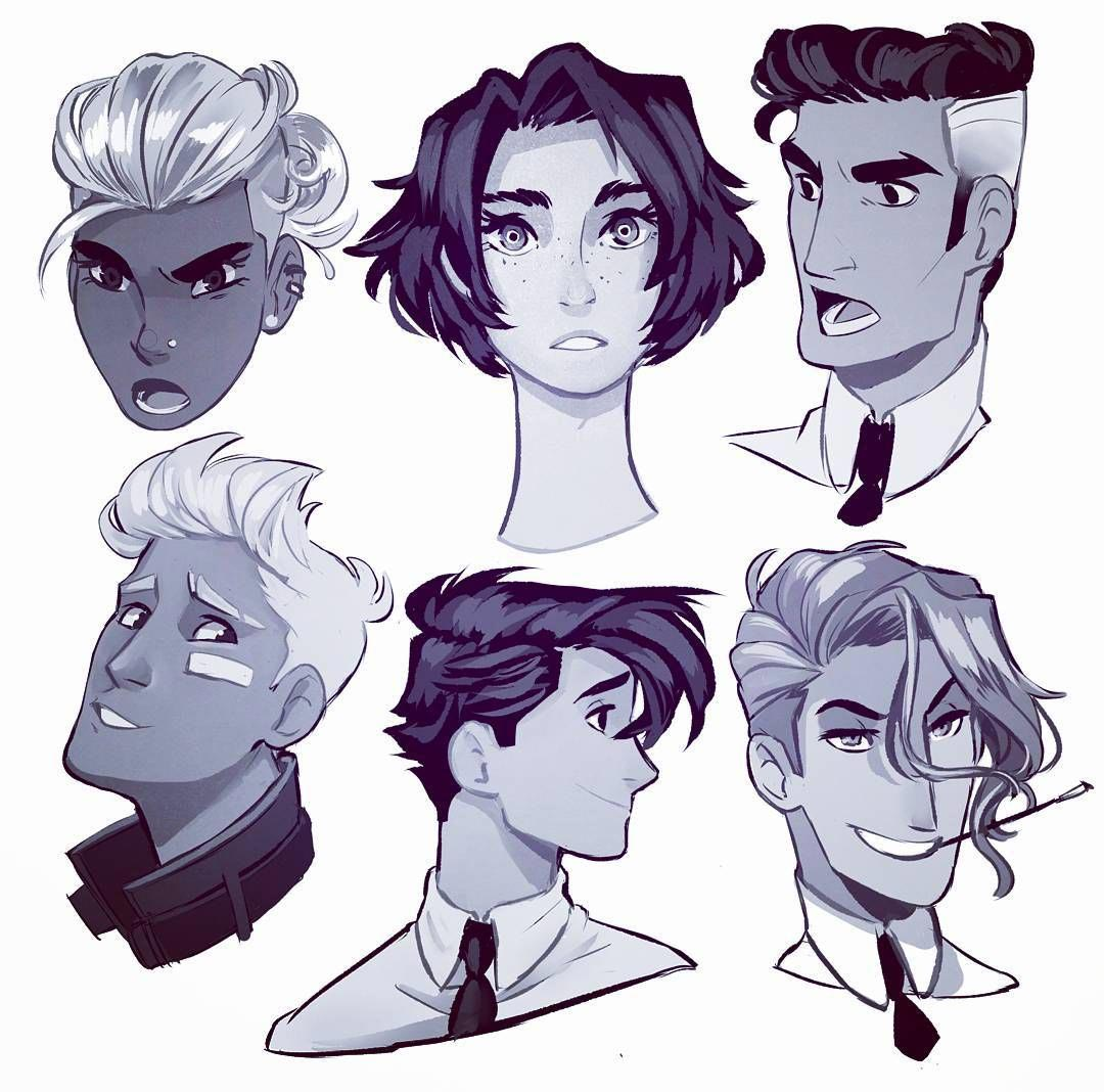 Male hair Drawing Reference and Sketches for Artists