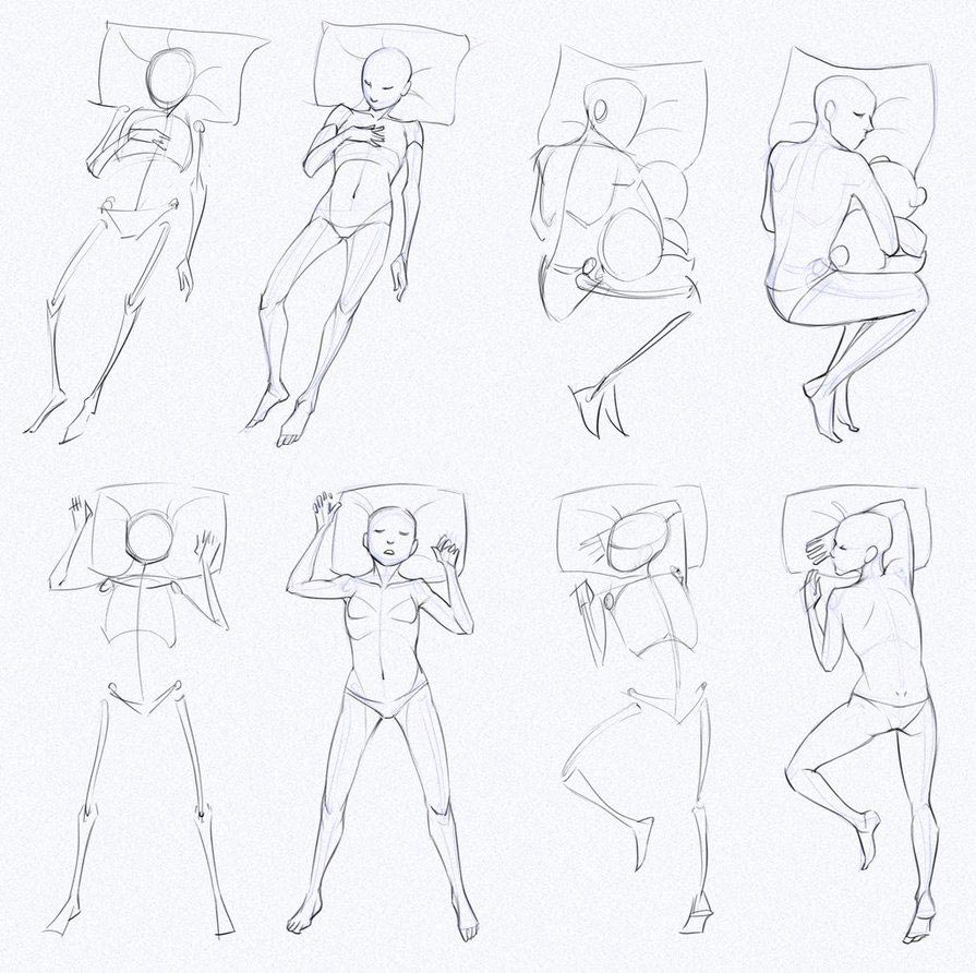 Sleeping Pose drawing reference