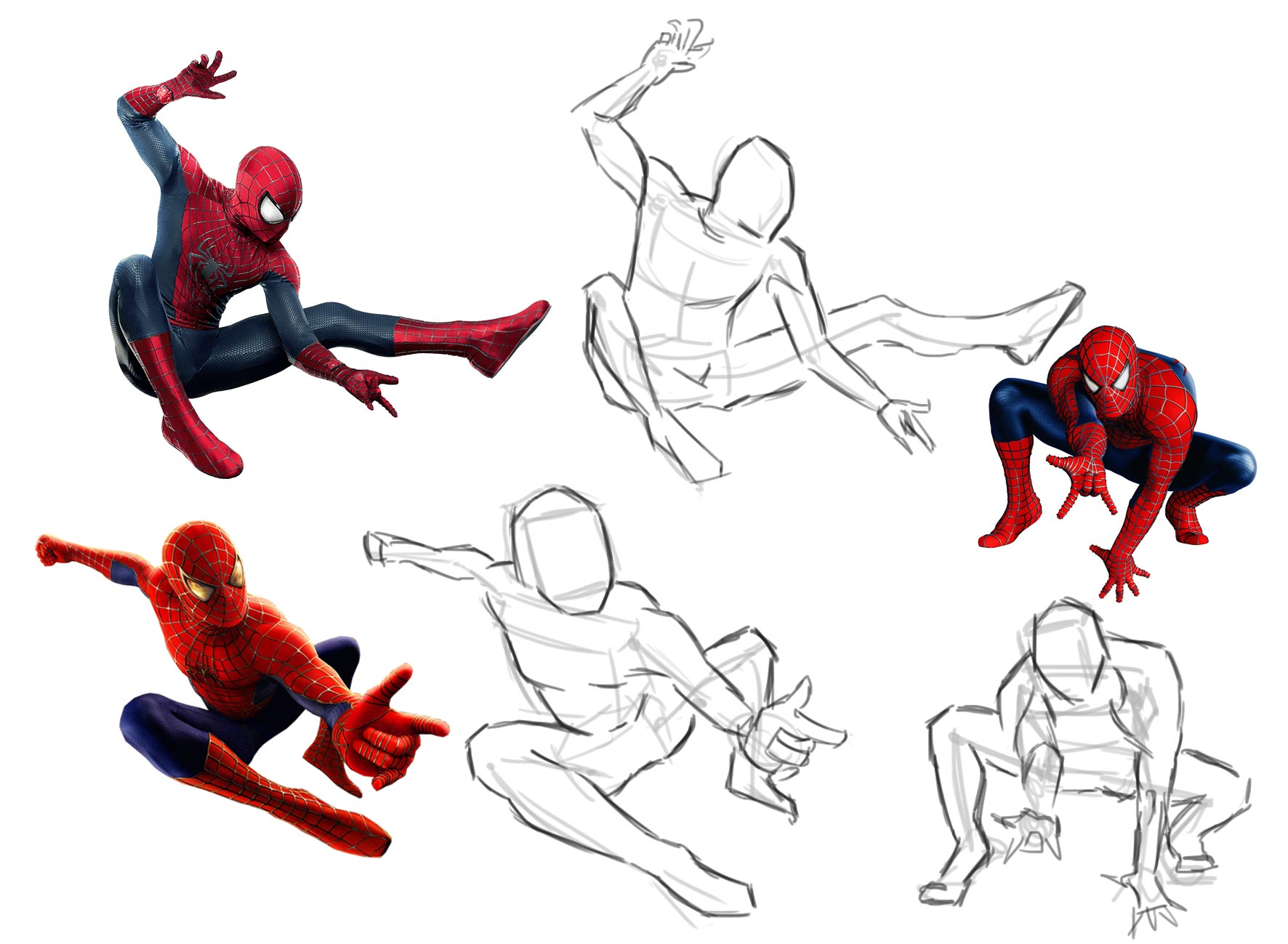 SpiderMan drawing reference