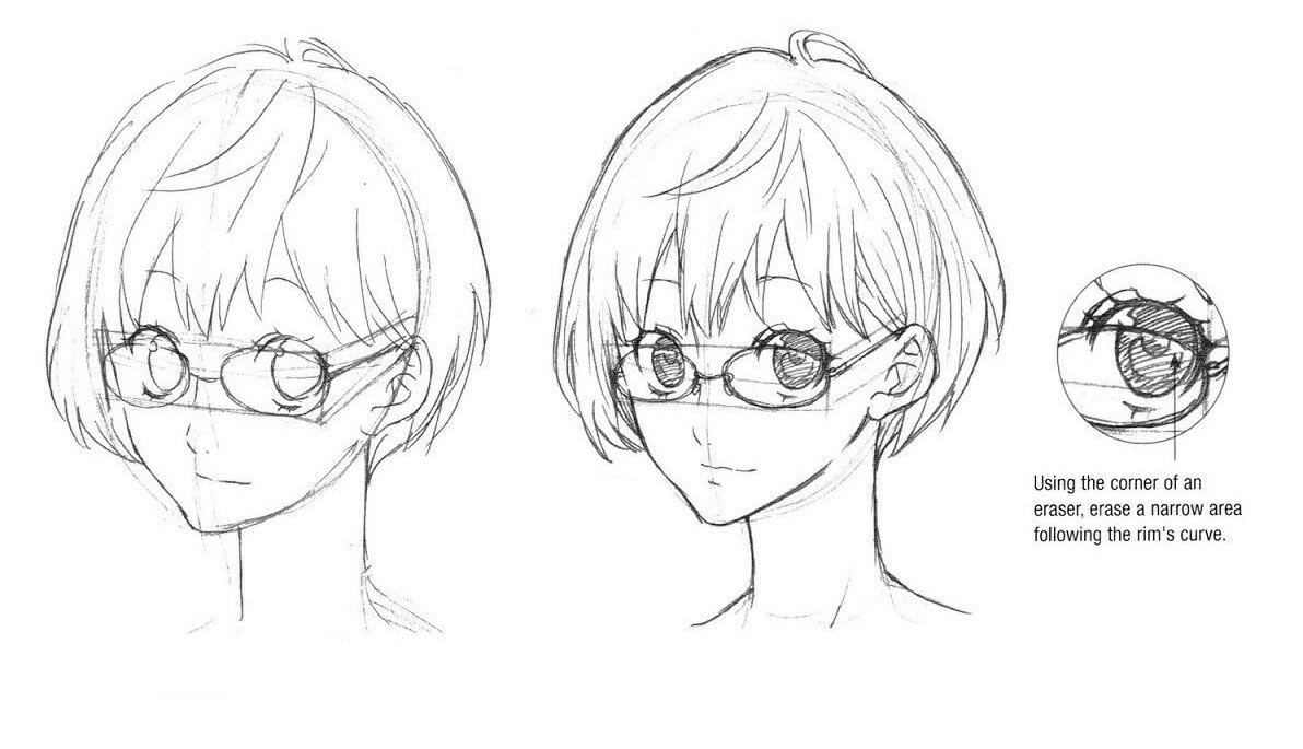 Glasses drawing reference
