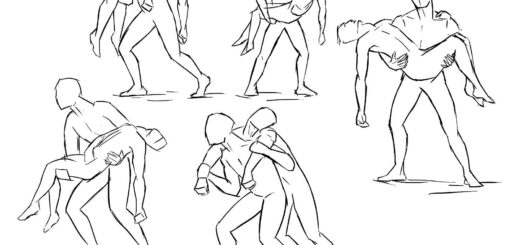 Carry pose drawing reference