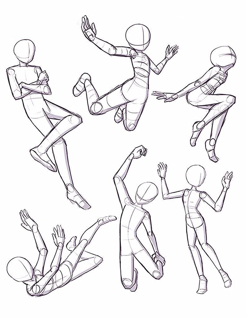 Floating Poses drawing reference