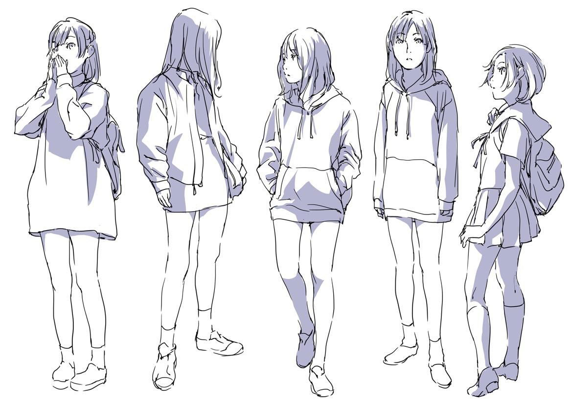 Hoodie drawing reference