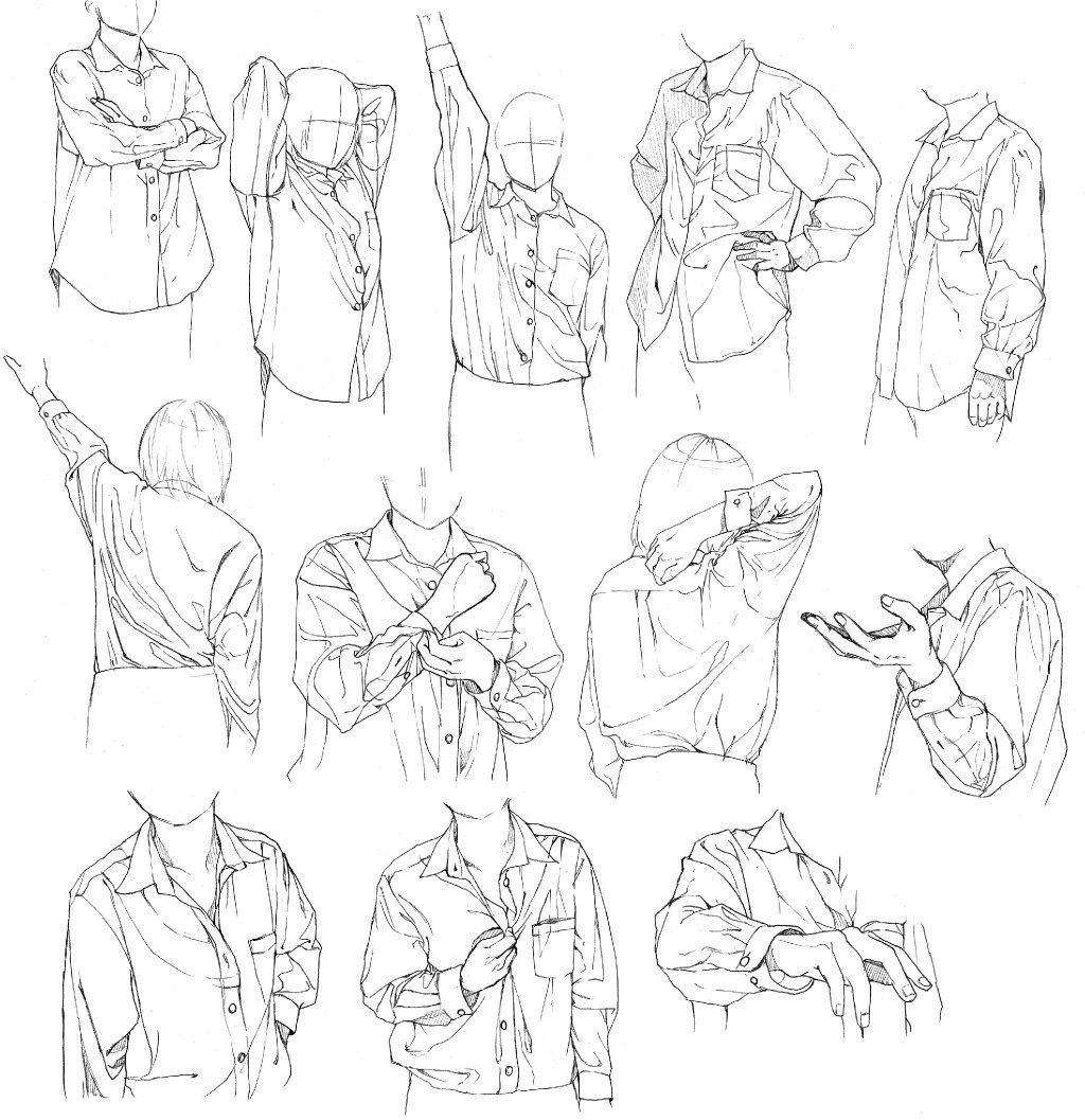 Shirt drawing reference