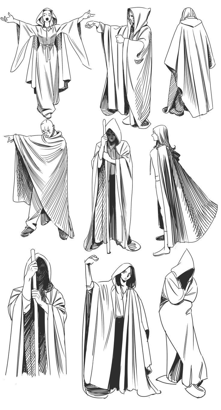 cloak drawing reference