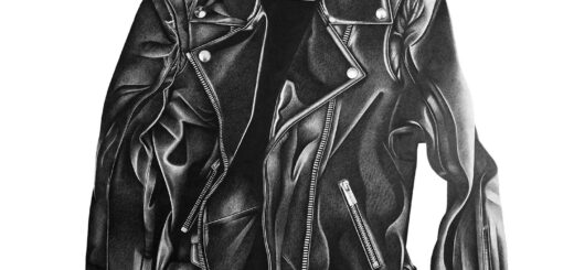 leather jacket drawing reference