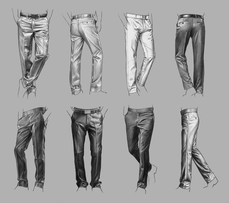 pants drawing reference