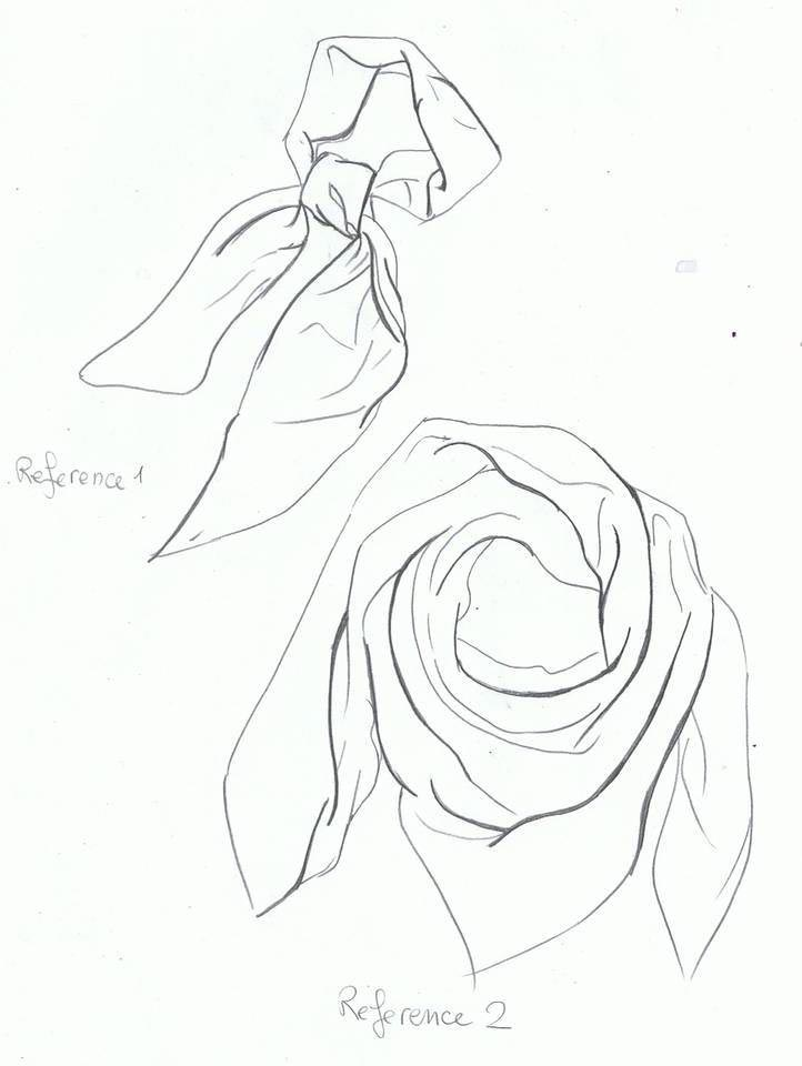 scarf drawing reference