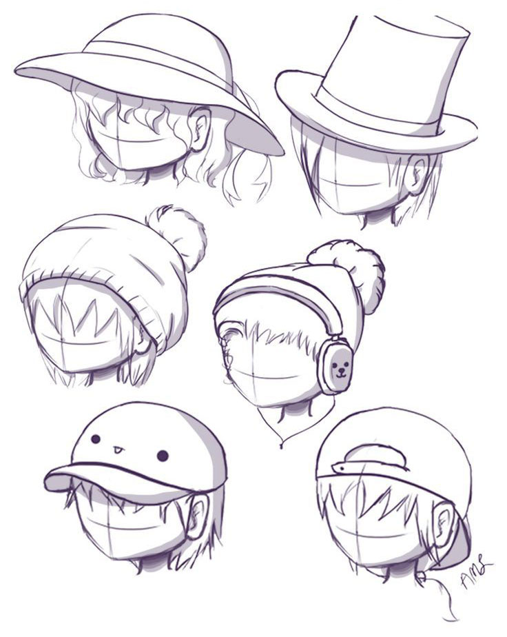 hat drawing reference