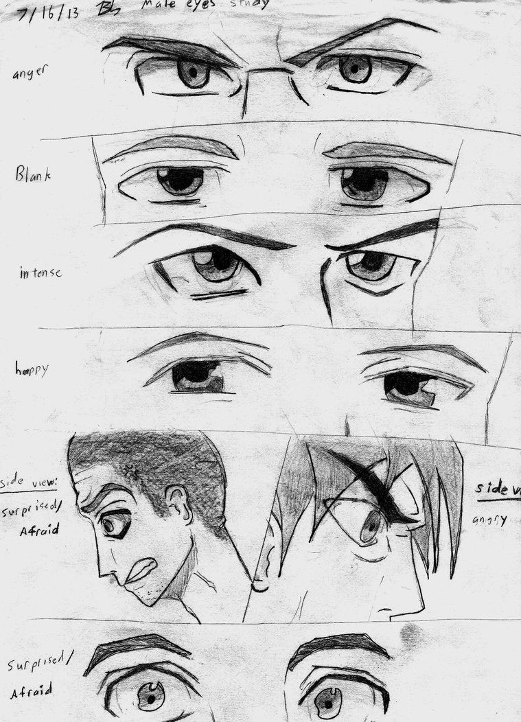 male eyes drawing reference