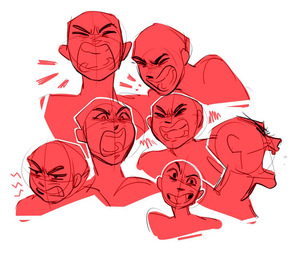 Angry drawing reference