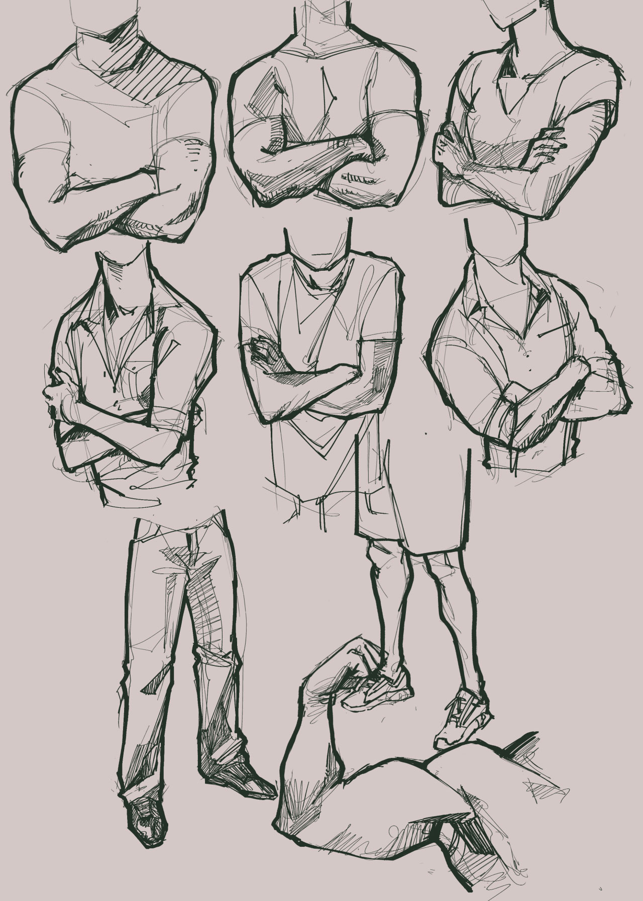 Arms crossed drawing reference