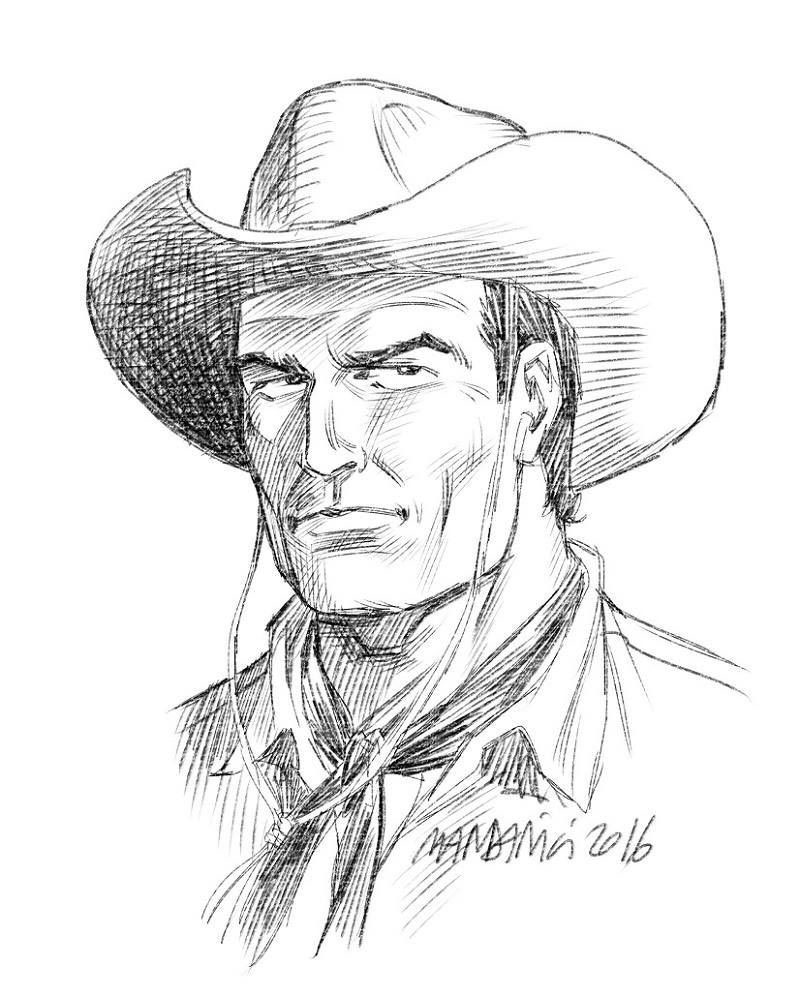 cowboy hat drawing reference