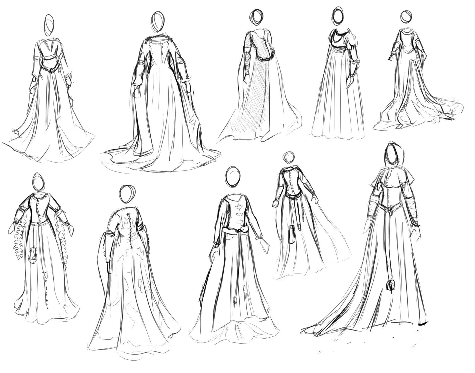 dress drawing reference