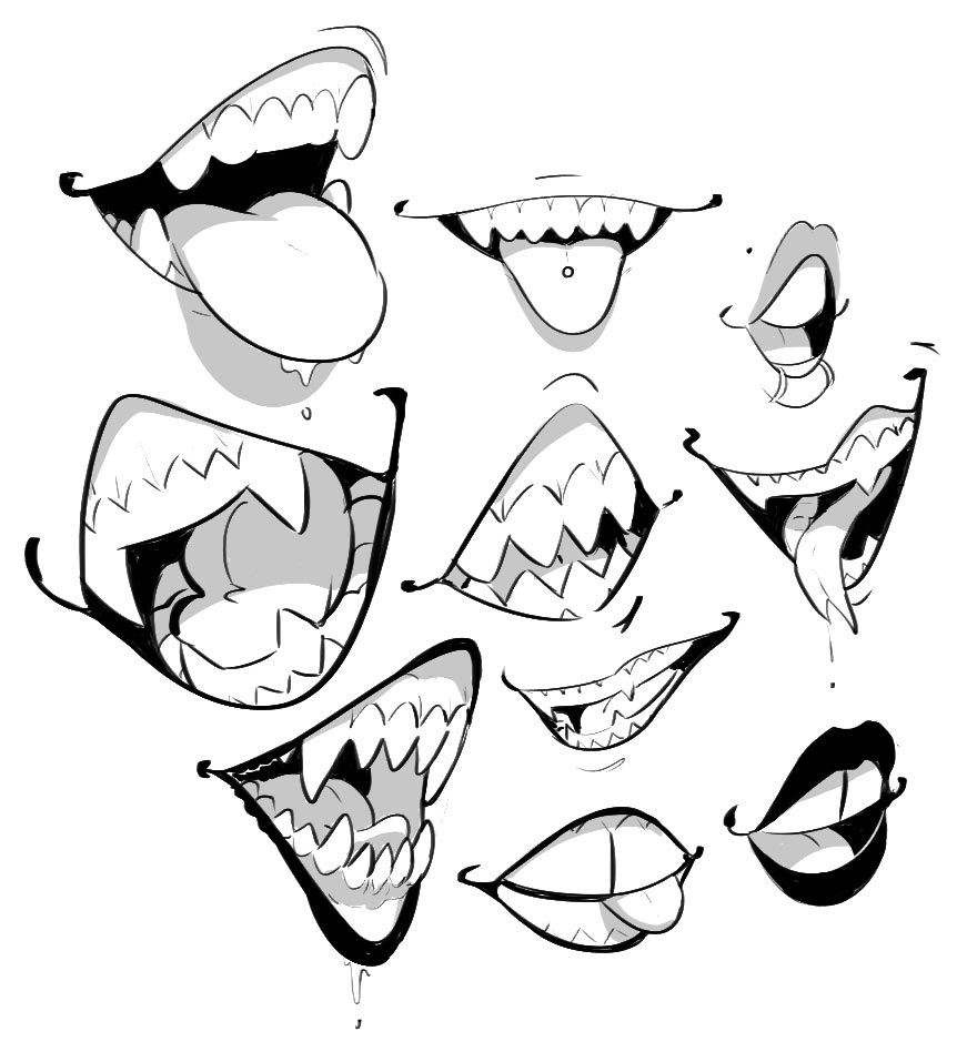 teeth drawing reference