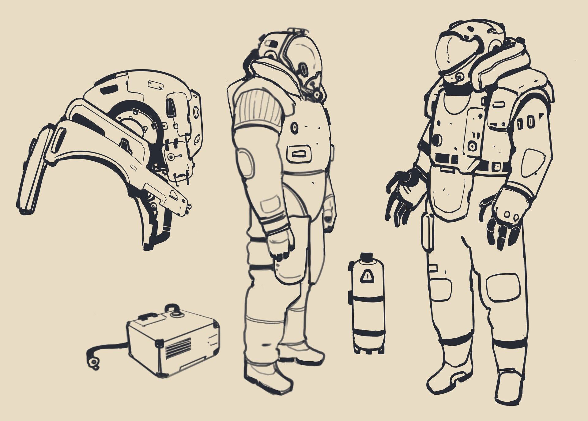 Astronaut drawing reference