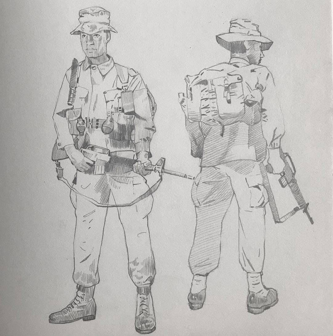 Soldier drawing reference