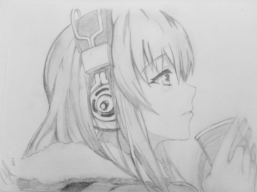 Female face side view drawing reference