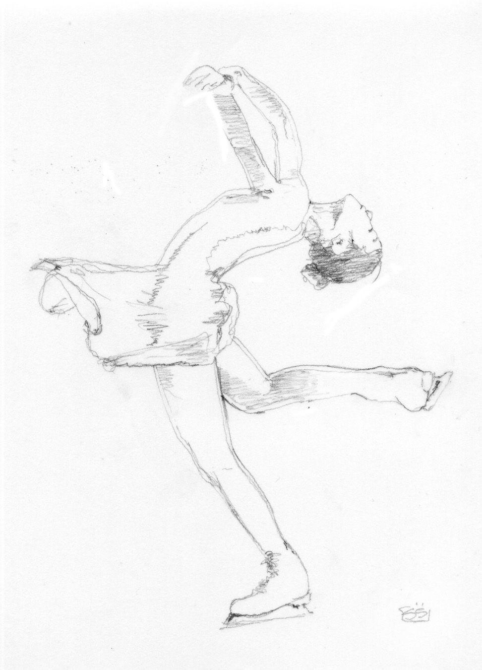 Ice skating poses drawing reference